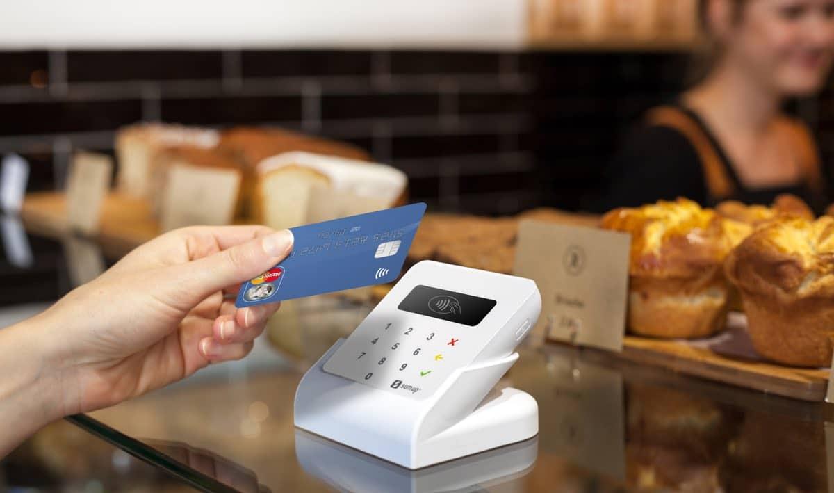 Betaling med SumUp Air i et bakeri