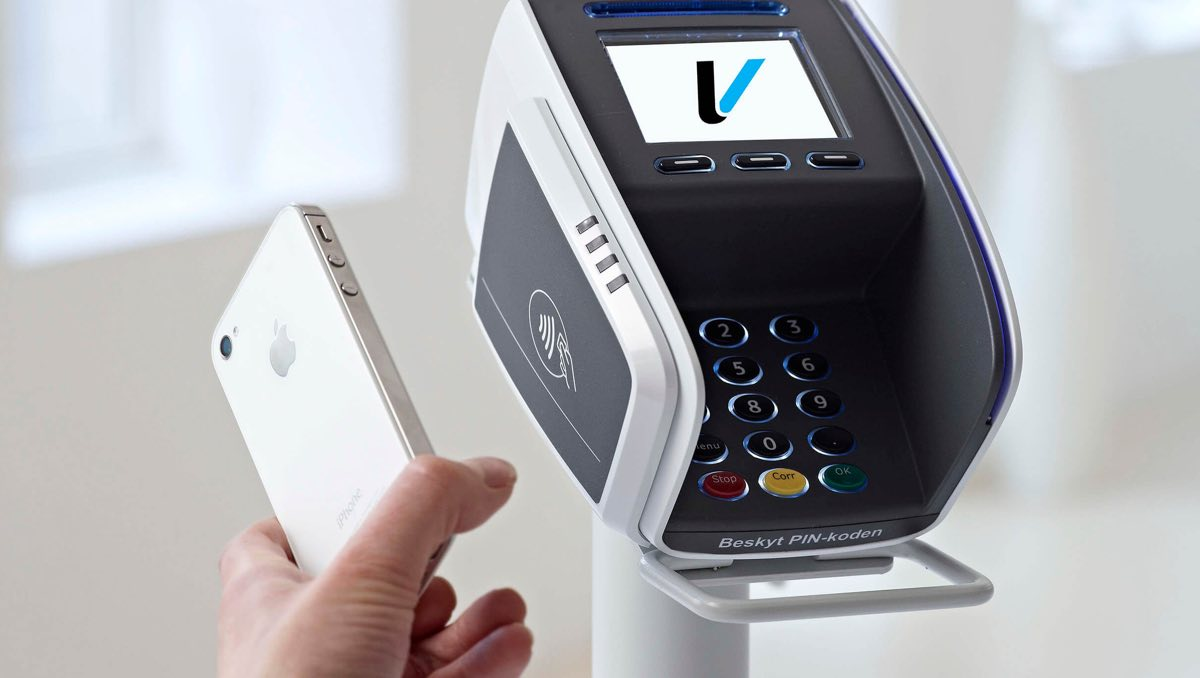 Verifone betalingsterminal med Apple Pay