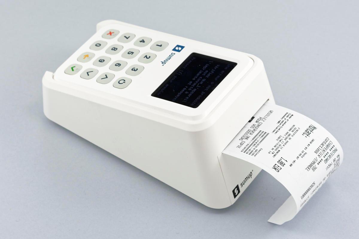 SumUp 3G med kvitteringsskriver